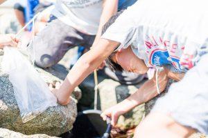 磯ガニ釣り-体験の様子